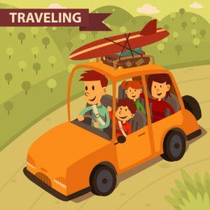 תמונה של ילדים מטיילים